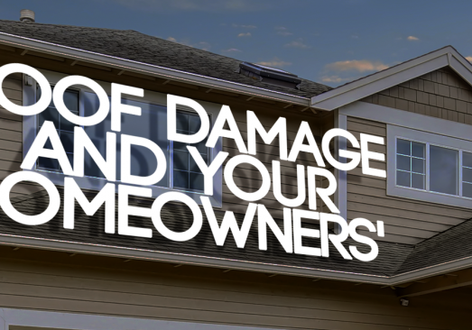 Roof Damage and Your Homeowners' Insurance
